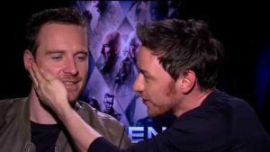 michael fassbender and james mcavoy bromance