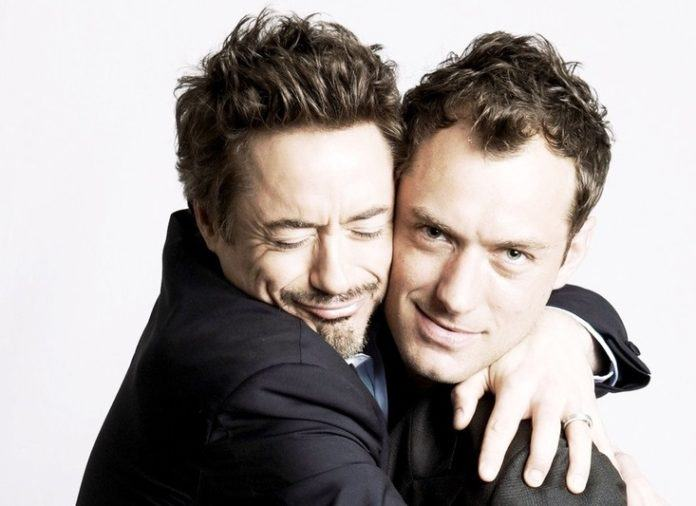 robert downey jr and jude law bromance