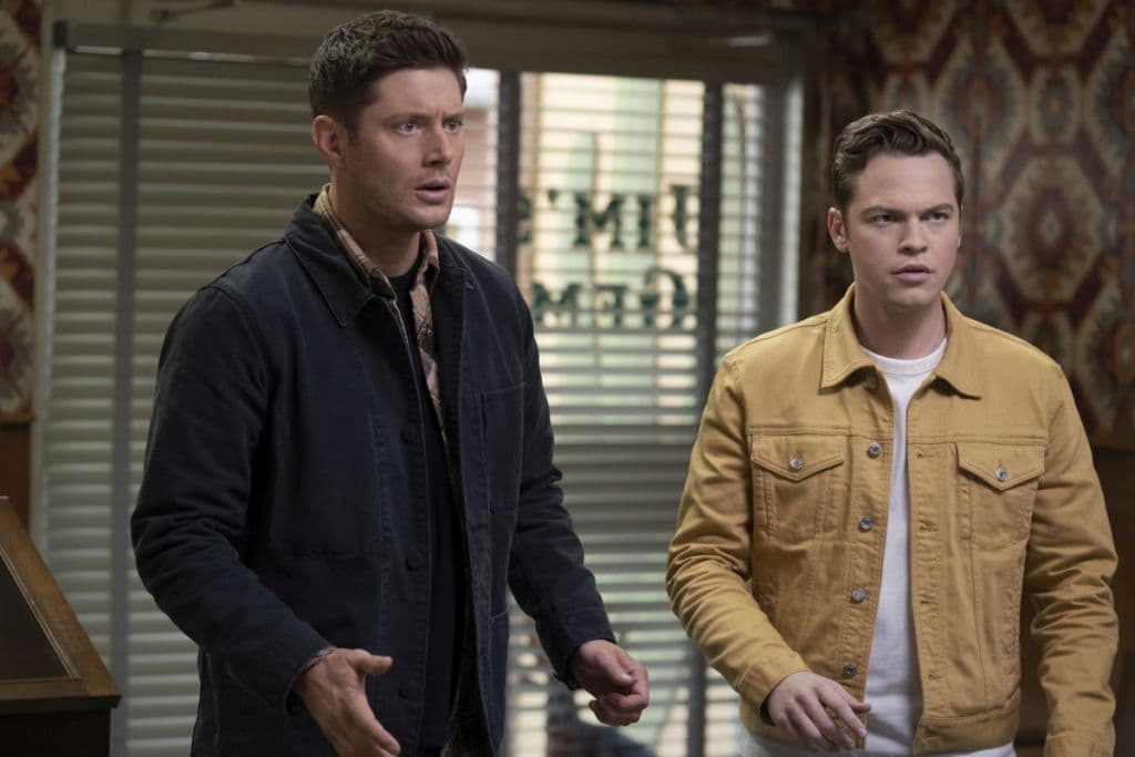 Supernatural-15x17 jack and dean
