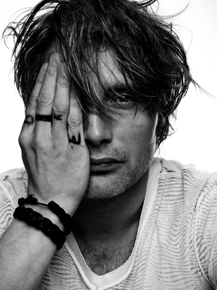 mads mikkelsen balck and white