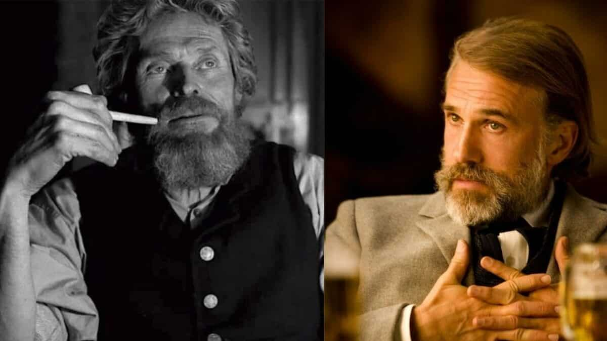 Willem Dafoe and Christoph Waltz together in Dead for a dollar